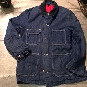Men's 80's Vtg Chore/railroad jacket size xl
